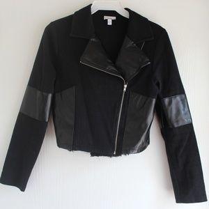 Disney D-Signed Girls Moto Jacket Sz L 14/16